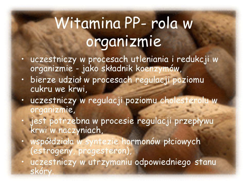 Witamina PP- rola w organizmie