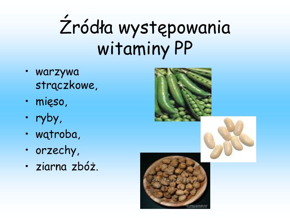 Źródła występowania witaminy PP