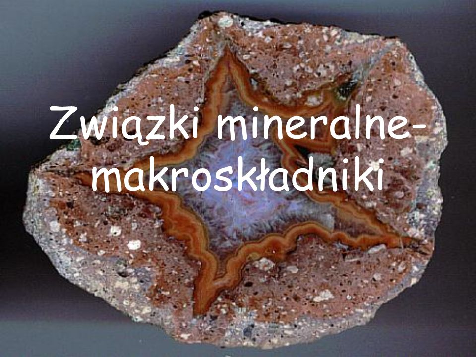 Związki mineralne- makroskładniki