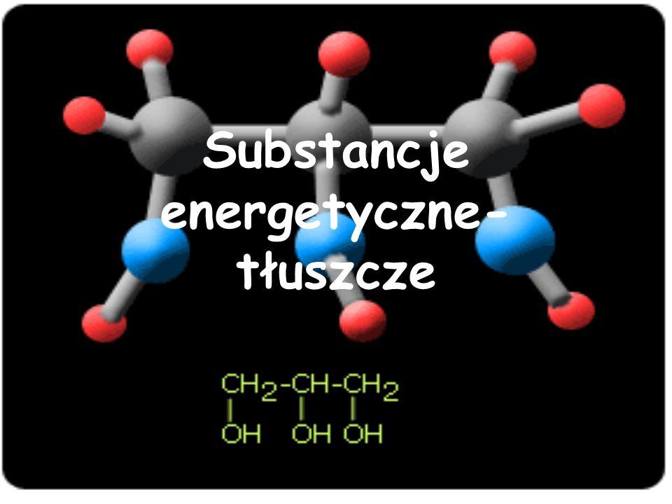 Substancje energetyczne- tłuszcze