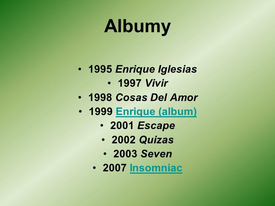 Albumy 1995 Enrique Iglesias 1997 Vivir 1998 Cosas Del Amor