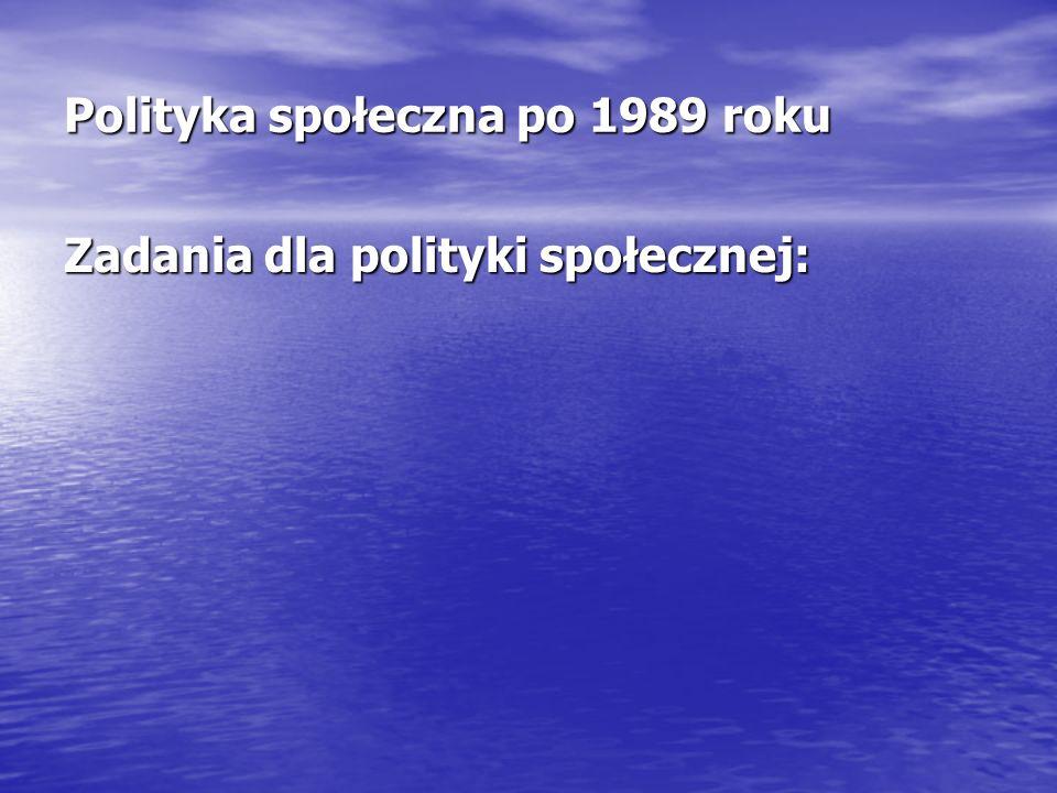Polityka społeczna po 1989 roku