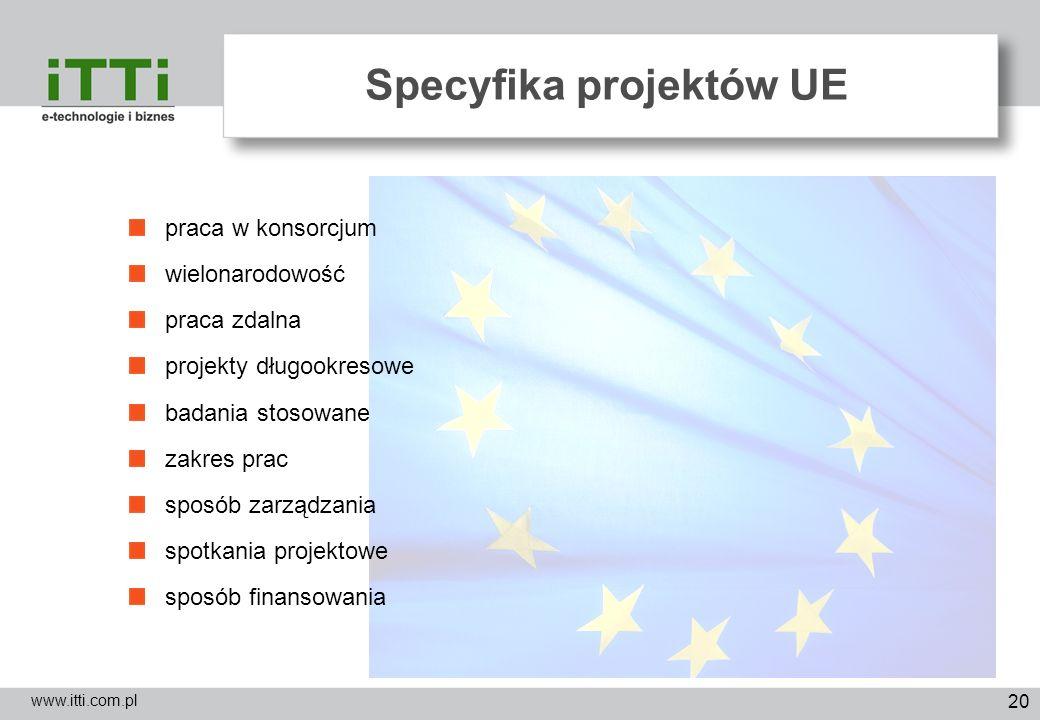 Specyfika projektów UE