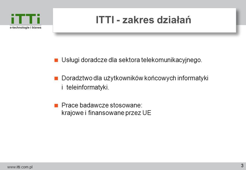 ITTI - zakres działań Usługi doradcze dla sektora telekomunikacyjnego.