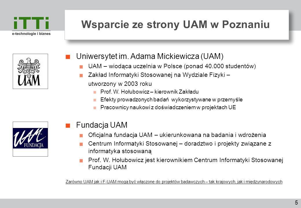 Wsparcie ze strony UAM w Poznaniu