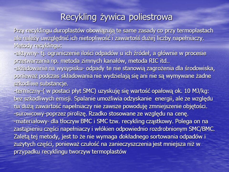 Recykling żywica poliestrowa