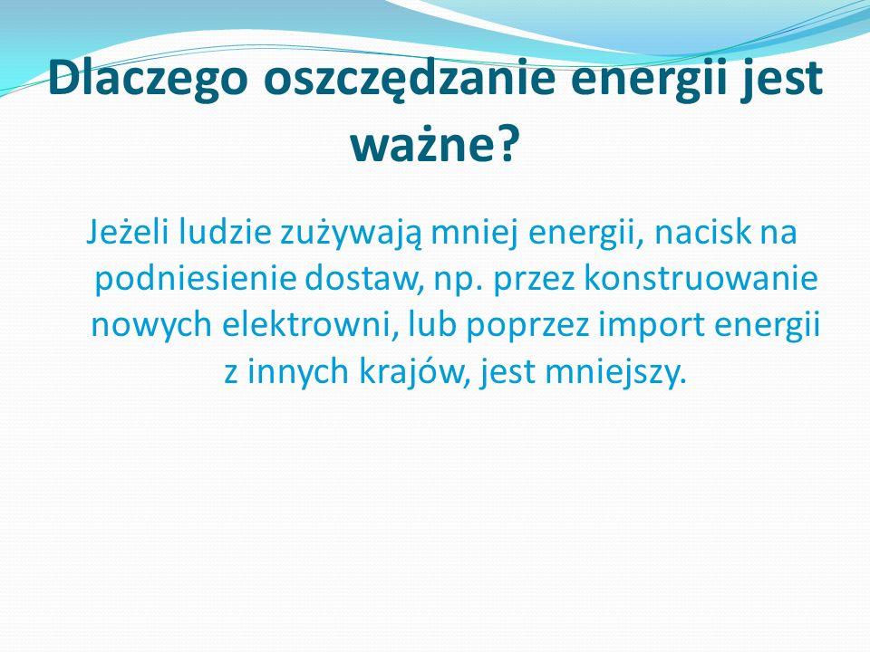 Dlaczego oszczędzanie energii jest ważne