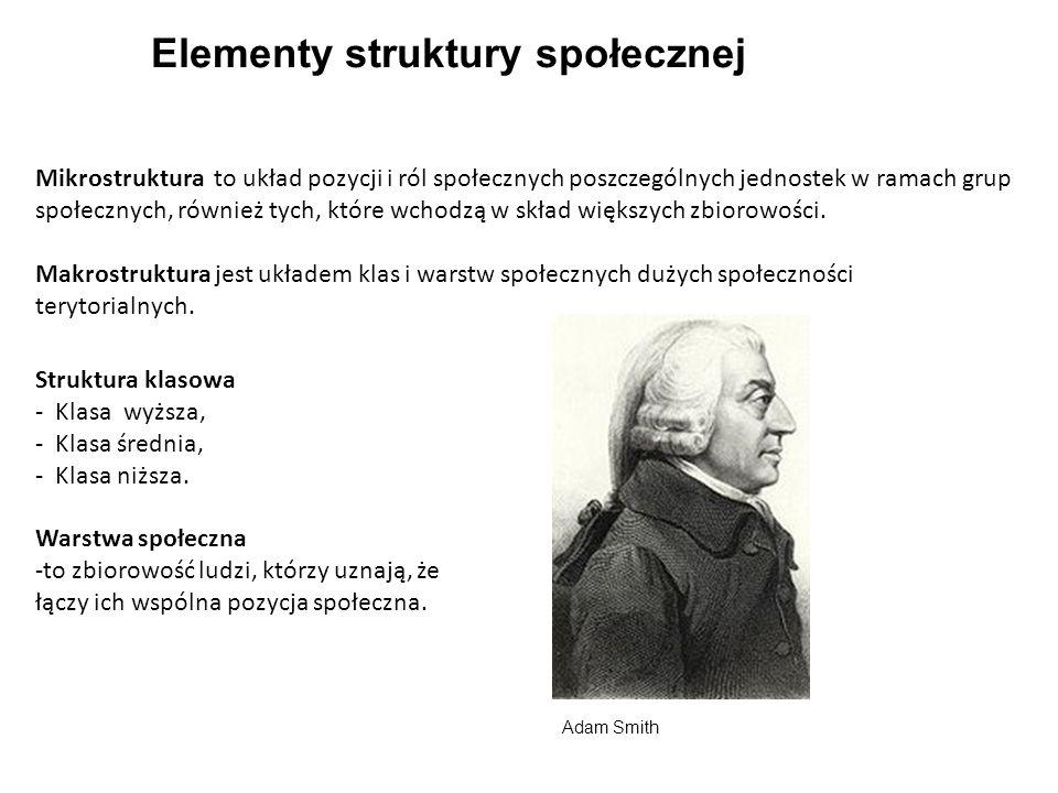 Elementy struktury społecznej