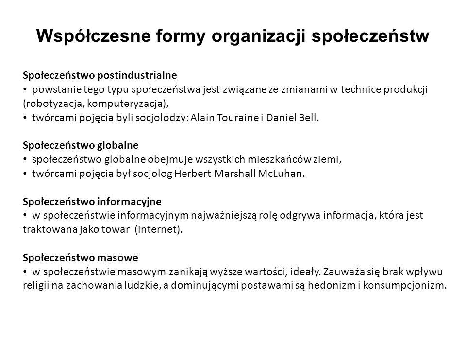 Współczesne formy organizacji społeczeństw