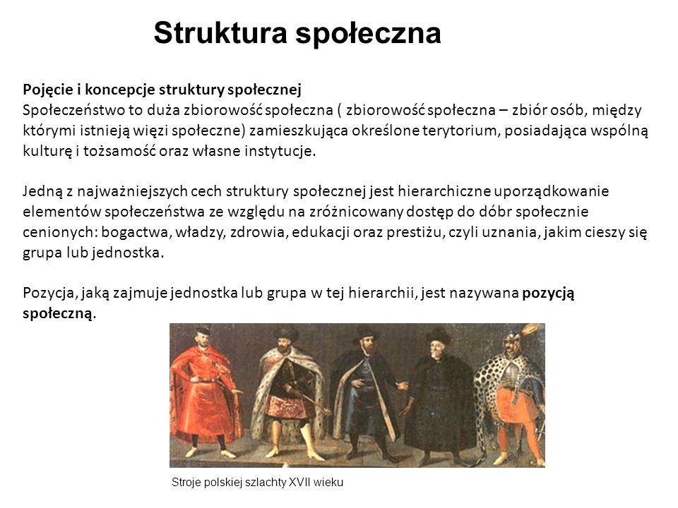 Struktura społeczna Pojęcie i koncepcje struktury społecznej