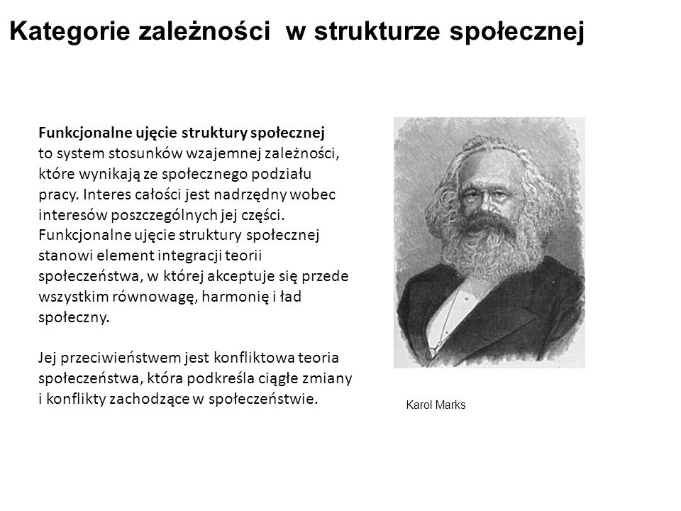 Kategorie zależności w strukturze społecznej