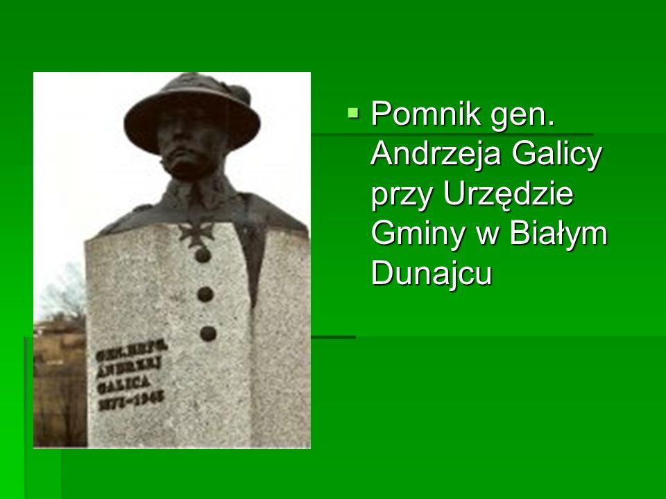 Pomnik gen. Andrzeja Galicy przy Urzędzie Gminy w Białym Dunajcu