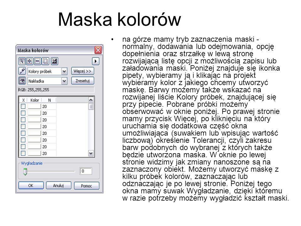 Maska kolorów