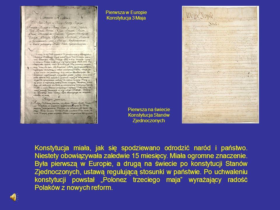 Pierwsza w Europie Konstytucja 3 Maja