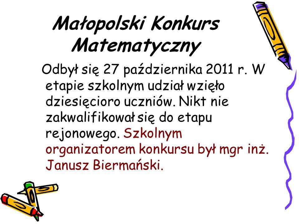 Małopolski Konkurs Matematyczny