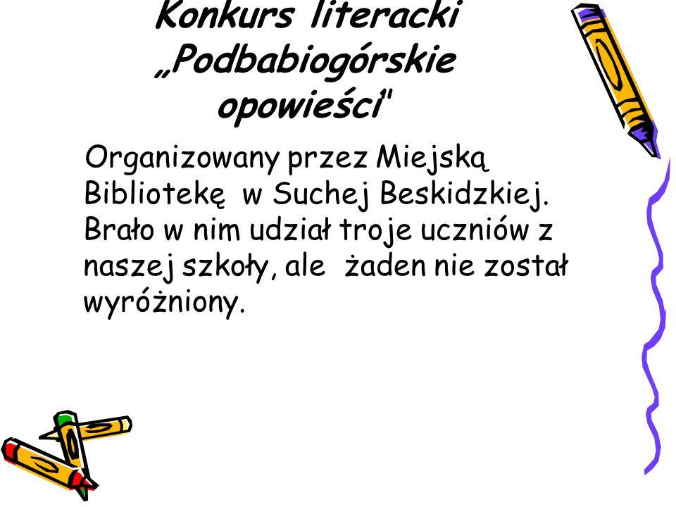 """Konkurs literacki """"Podbabiogórskie opowieści"""