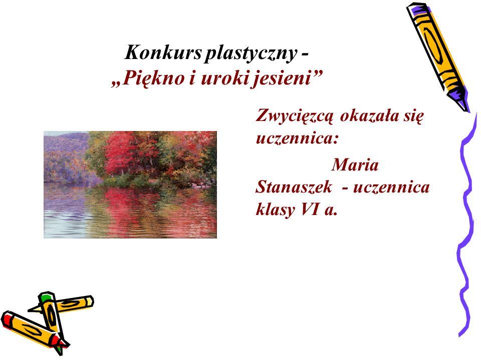"""Konkurs plastyczny - """"Piękno i uroki jesieni"""