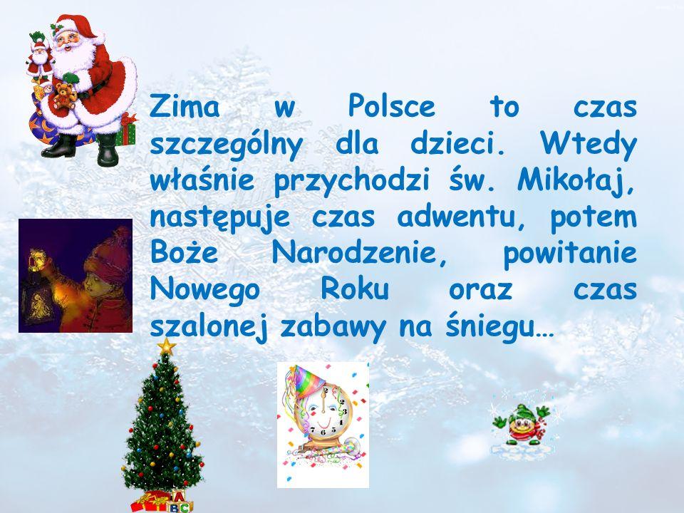 Zima w Polsce to czas szczególny dla dzieci