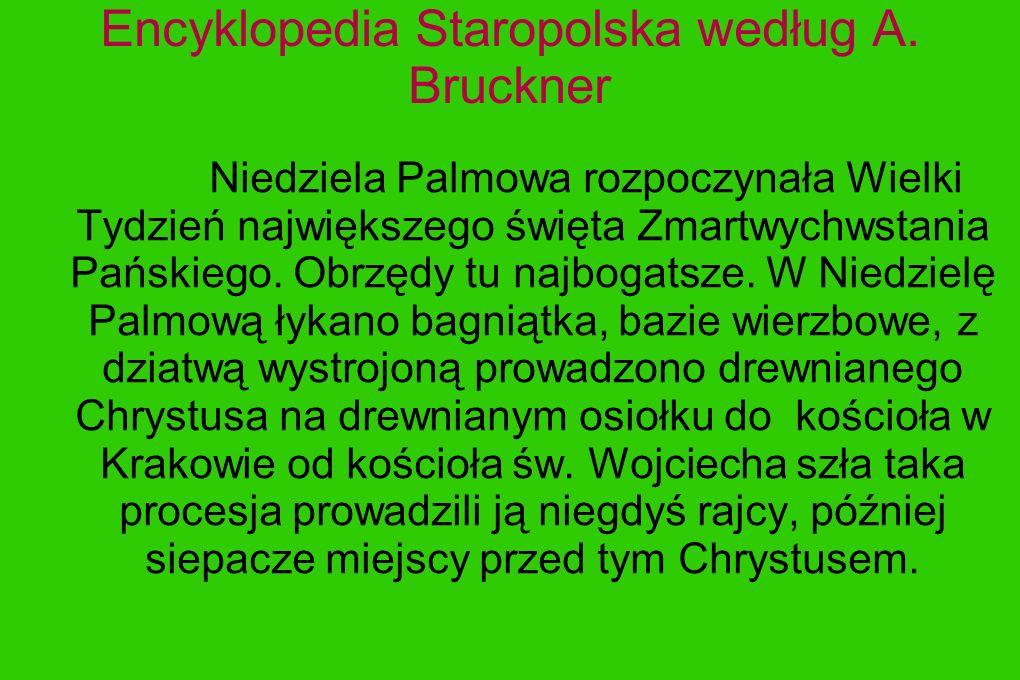Encyklopedia Staropolska według A. Bruckner