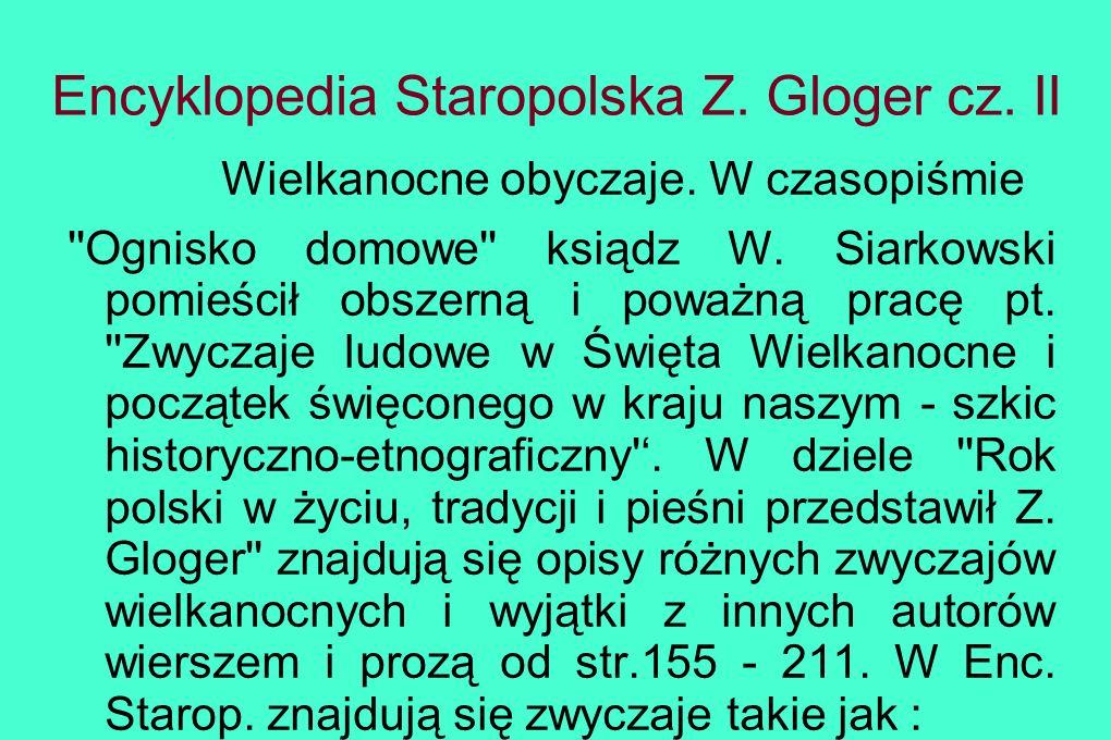 Encyklopedia Staropolska Z. Gloger cz. II