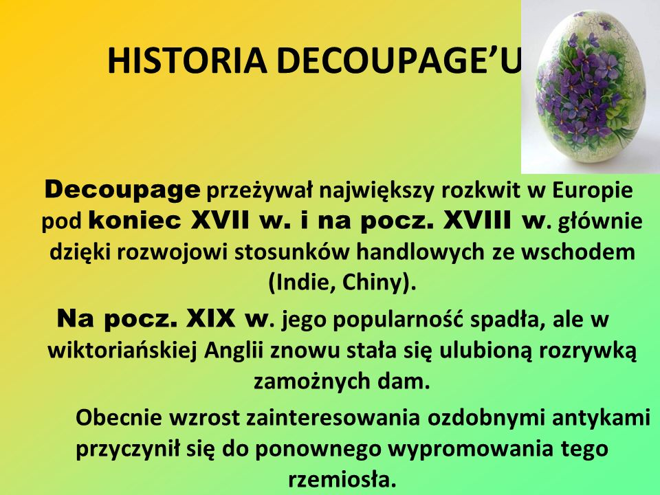 HISTORIA DECOUPAGE'U