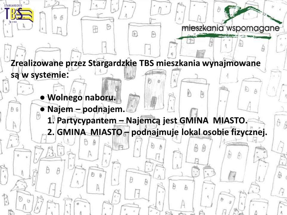 Zrealizowane przez Stargardzkie TBS mieszkania wynajmowane są w systemie: ● Wolnego naboru.
