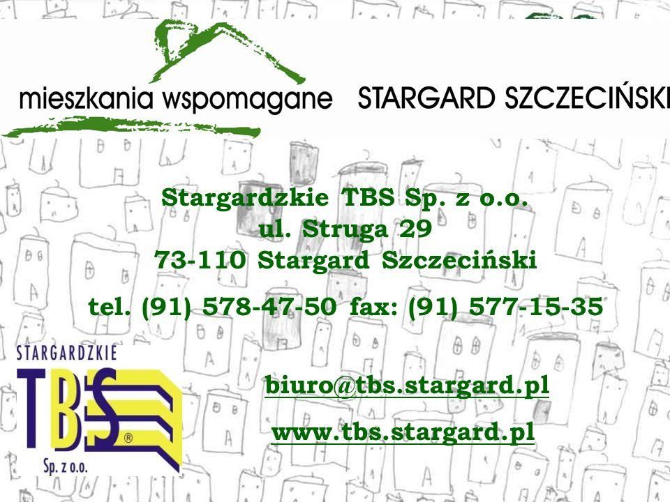 Stargardzkie TBS Sp. z o.o. ul. Struga 29 73-110 Stargard Szczeciński