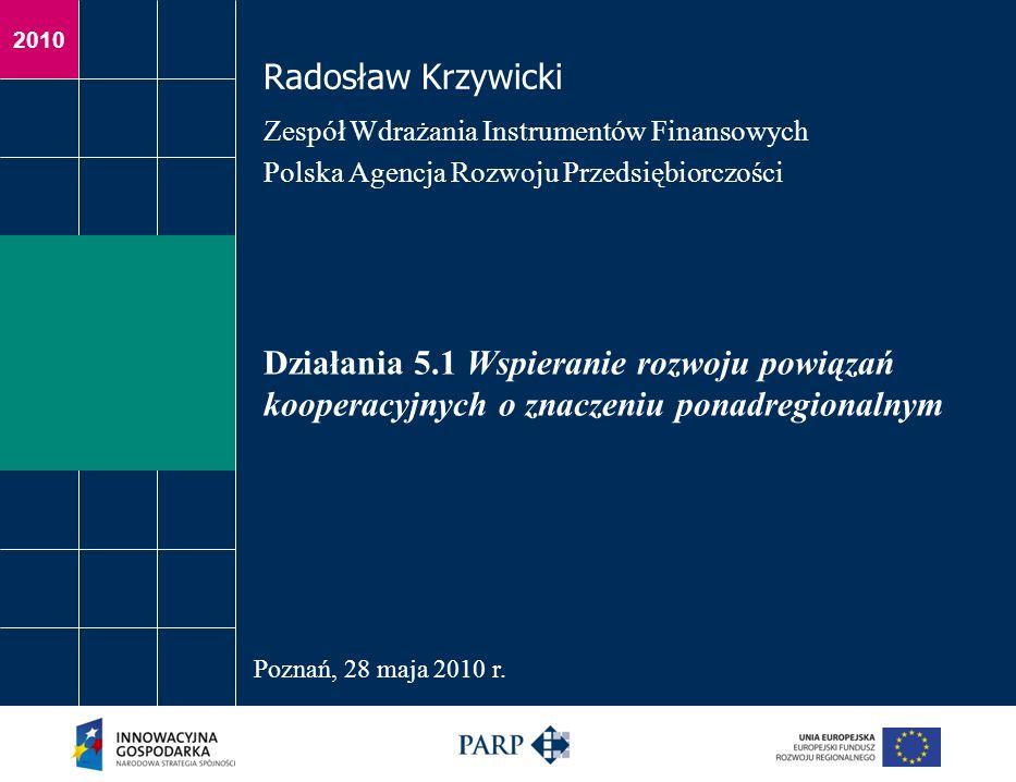 Radosław Krzywicki Zespół Wdrażania Instrumentów Finansowych. Polska Agencja Rozwoju Przedsiębiorczości.