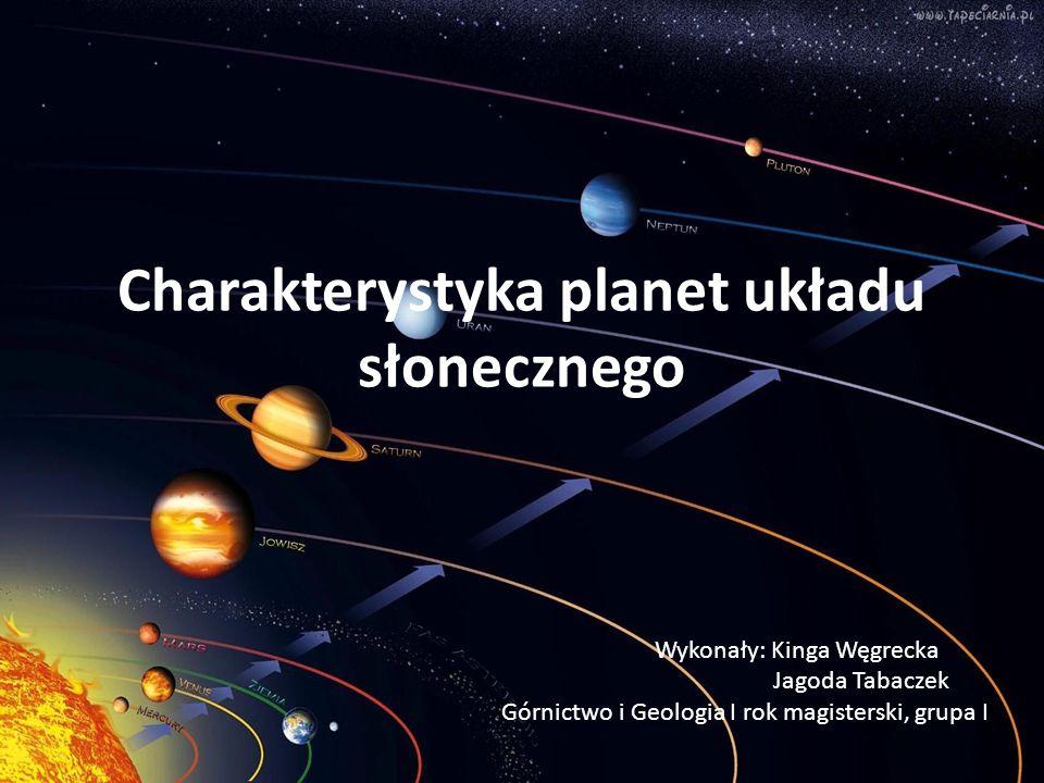 Charakterystyka planet układu słonecznego