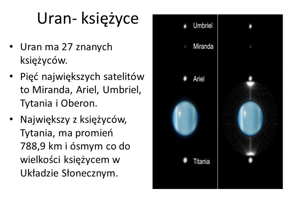 Uran- księżyce Uran ma 27 znanych księżyców.