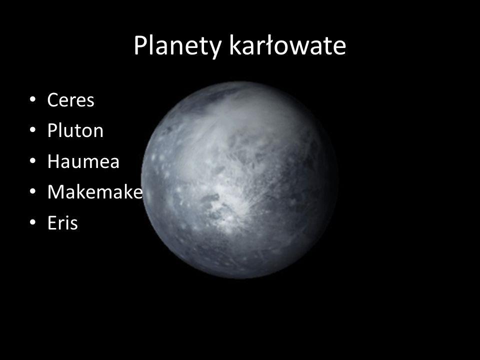 Planety karłowate Ceres Pluton Haumea Makemake Eris