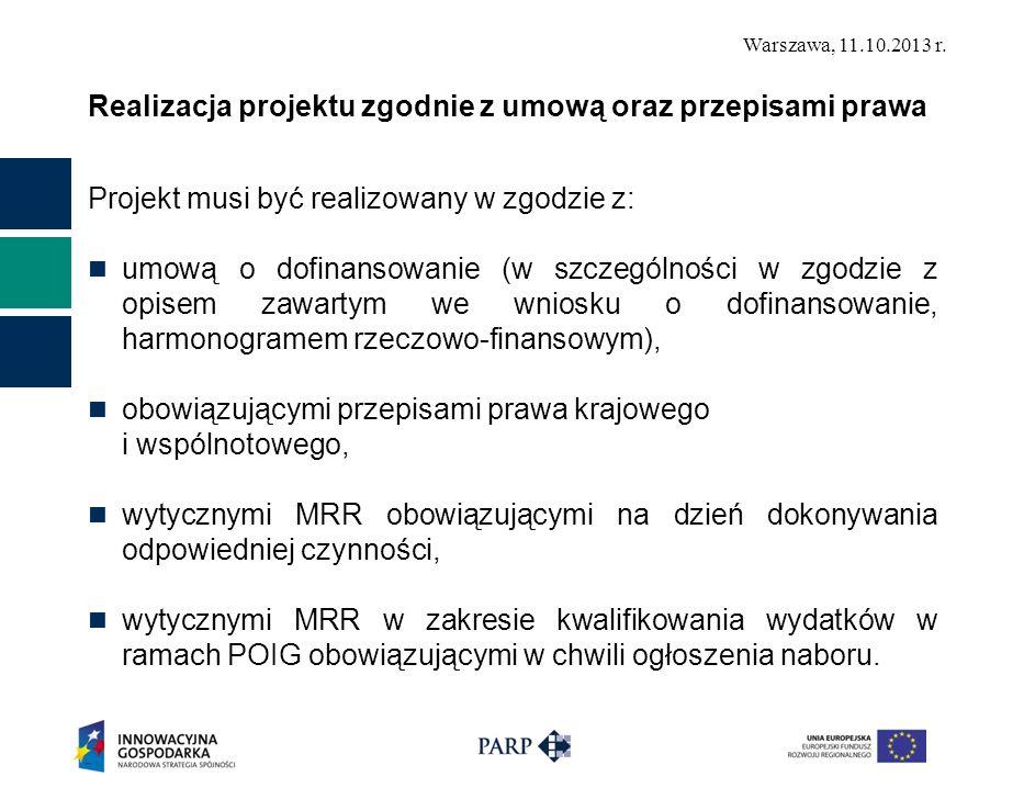 Realizacja projektu zgodnie z umową oraz przepisami prawa