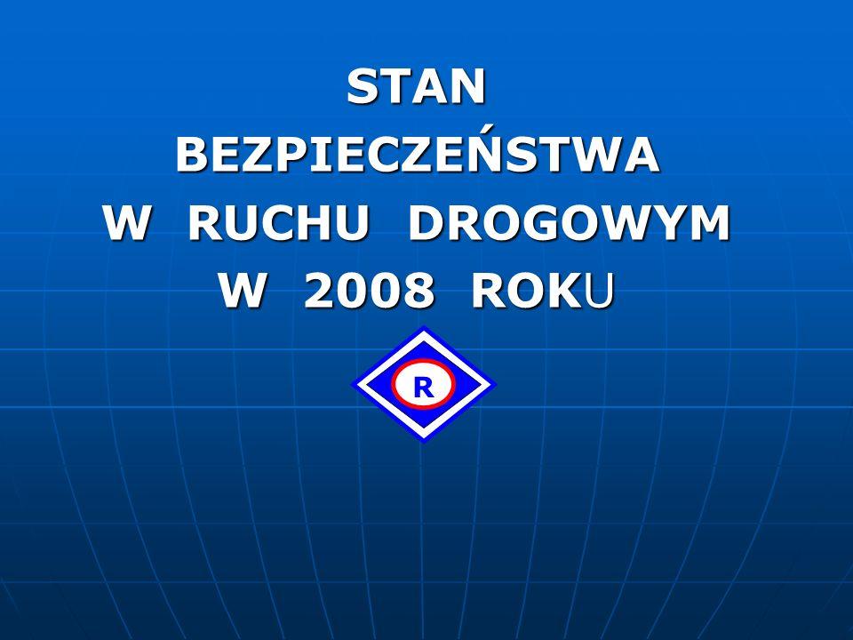 STAN BEZPIECZEŃSTWA W RUCHU DROGOWYM W 2008 ROKU