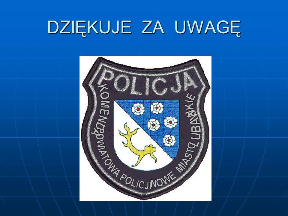 DZIĘKUJE ZA UWAGĘ KOMENDA POWIATOWA POLICJI NOWE MIASTO SKIE LUBAW