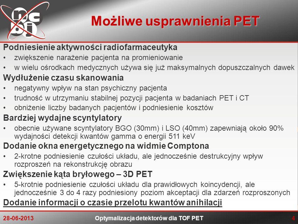 Możliwe usprawnienia PET