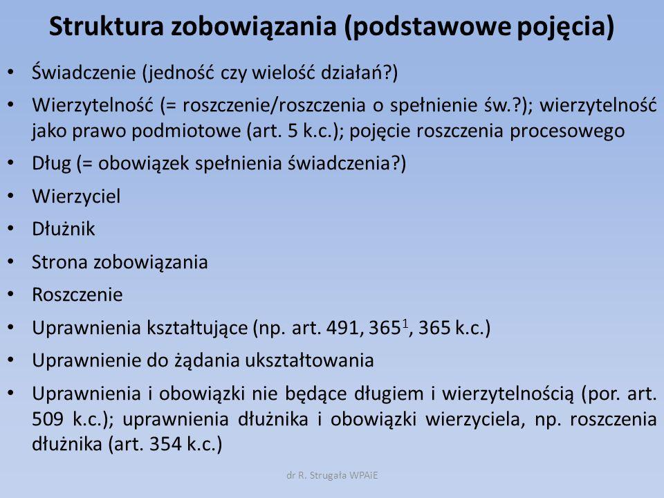 Struktura zobowiązania (podstawowe pojęcia)