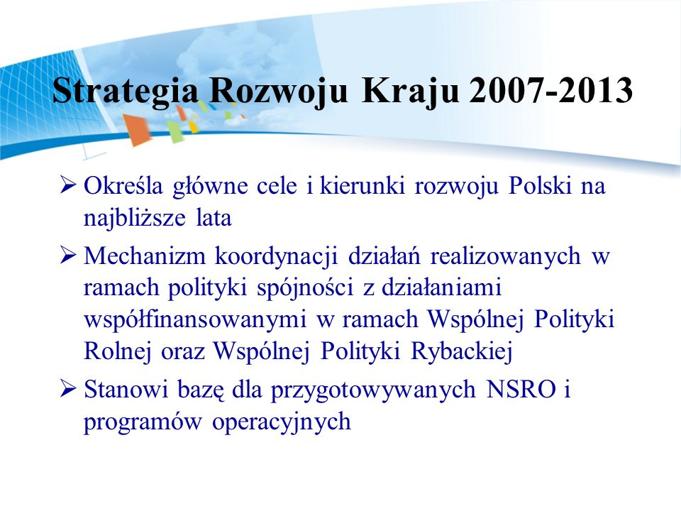 Strategia Rozwoju Kraju 2007-2013