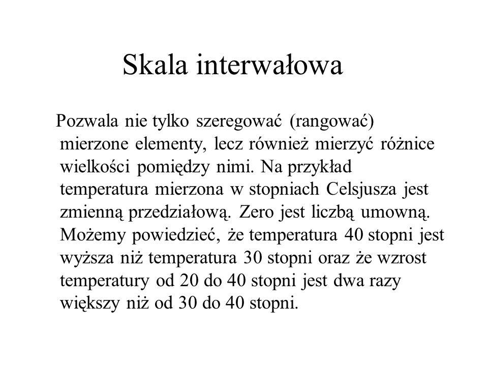 Skala interwałowa