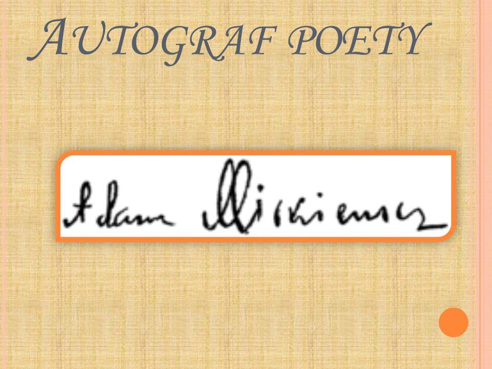 Autograf poety