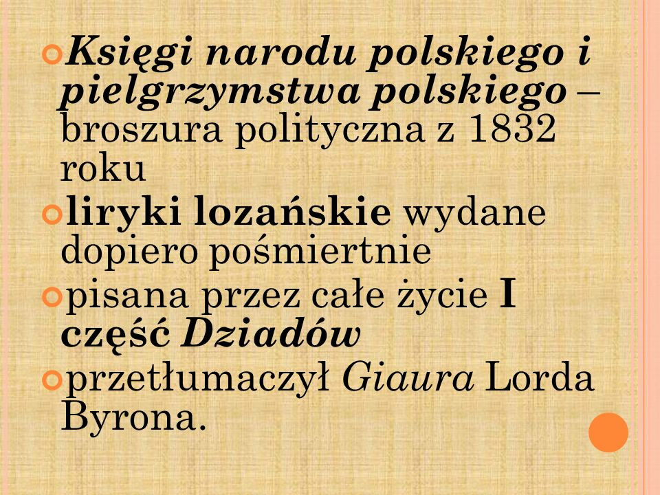 Księgi narodu polskiego i pielgrzymstwa polskiego – broszura polityczna z 1832 roku