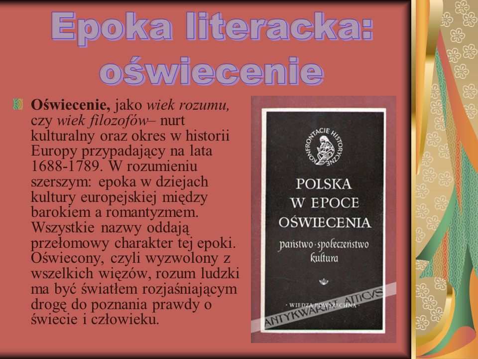 Epoka literacka: oświecenie