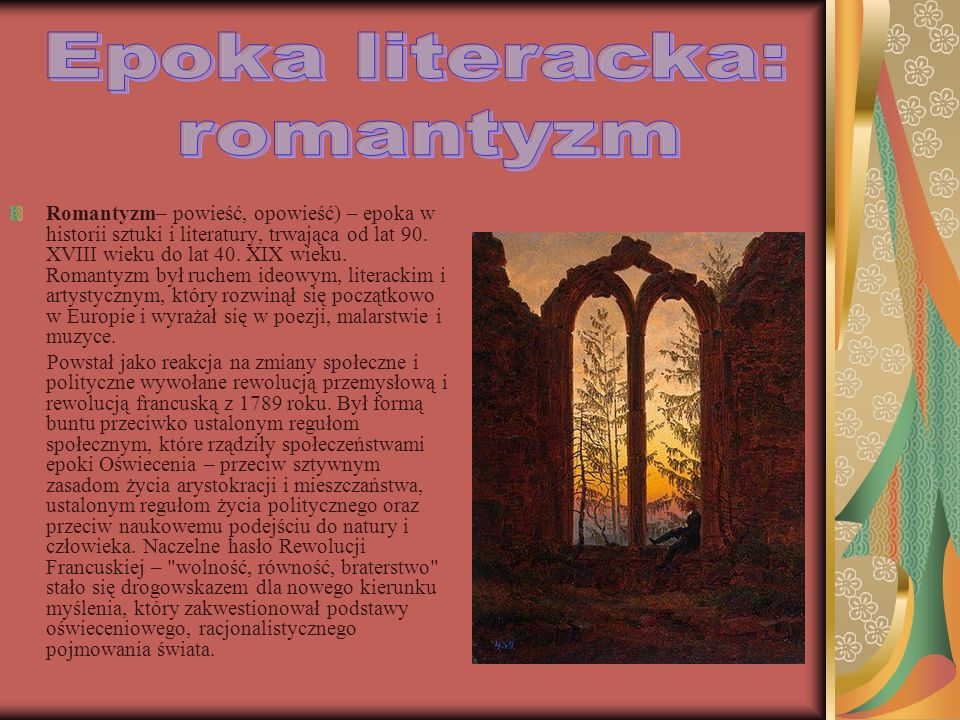 Epoka literacka: romantyzm