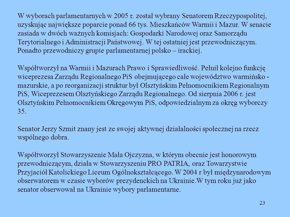 W wyborach parlamentarnych w 2005 r