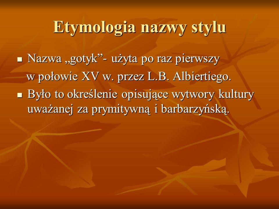 Etymologia nazwy stylu