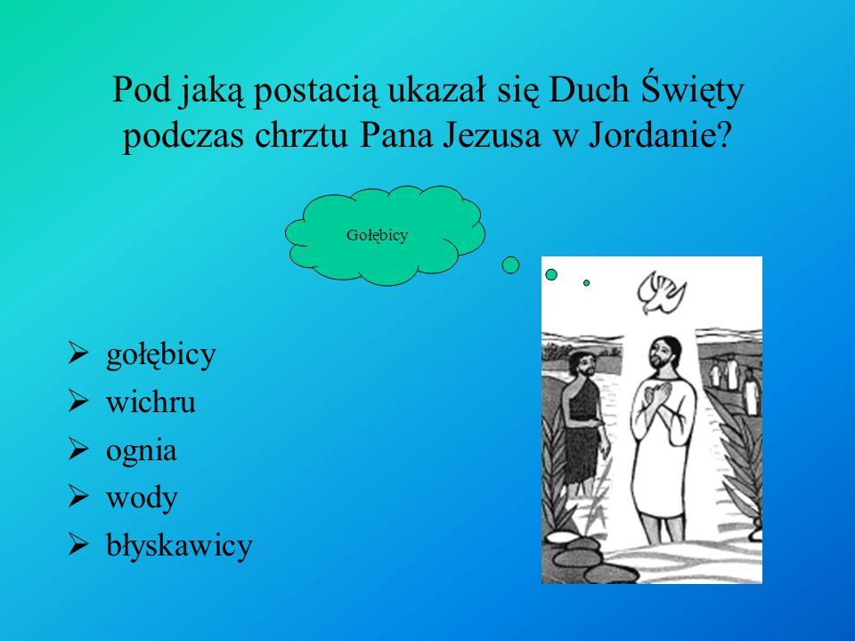 Pod jaką postacią ukazał się Duch Święty podczas chrztu Pana Jezusa w Jordanie