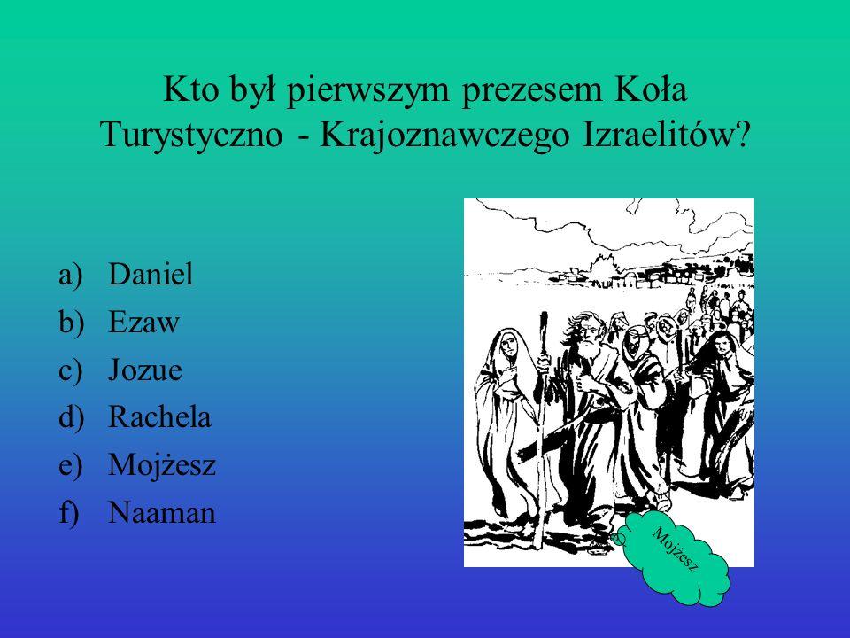 Kto był pierwszym prezesem Koła Turystyczno - Krajoznawczego Izraelitów