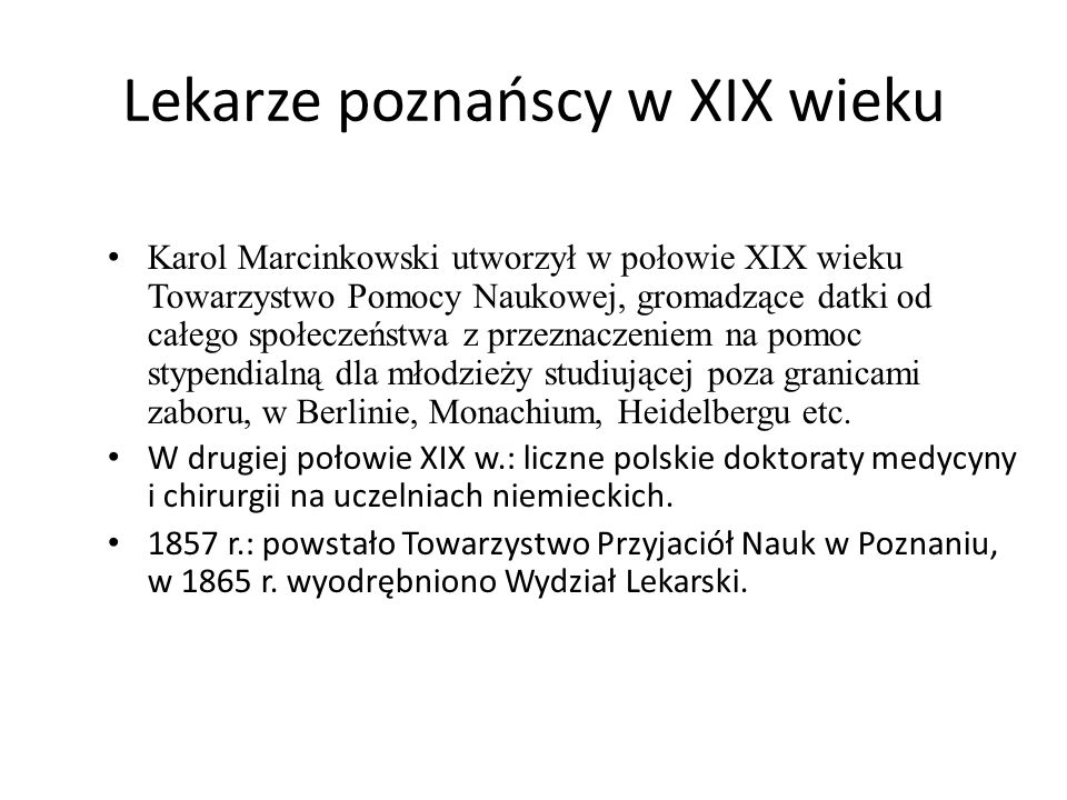 Lekarze poznańscy w XIX wieku