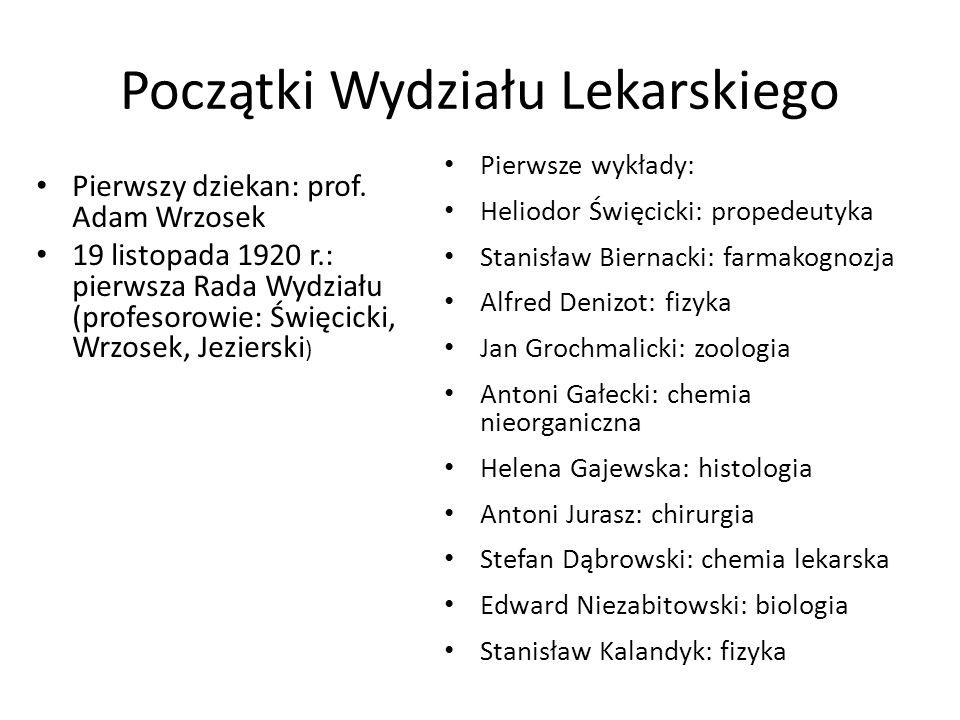 Początki Wydziału Lekarskiego