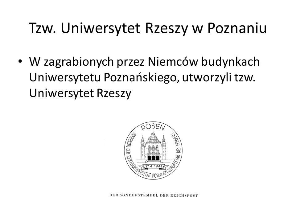 Tzw. Uniwersytet Rzeszy w Poznaniu