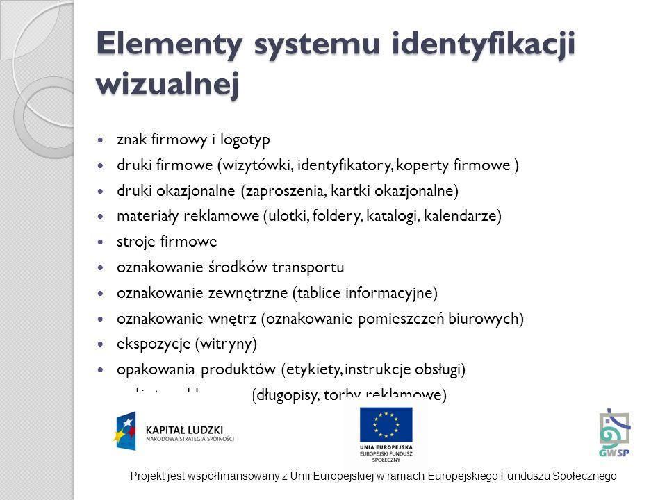 Elementy systemu identyfikacji wizualnej